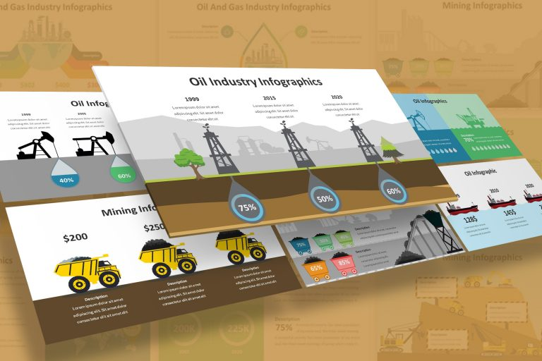 Oil and Mining Infographic Presentation Template