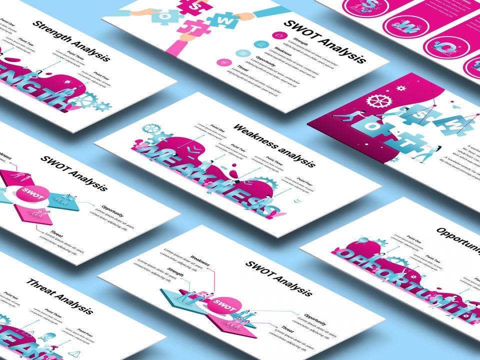 SWOT Analysis Illustration Presentation Template