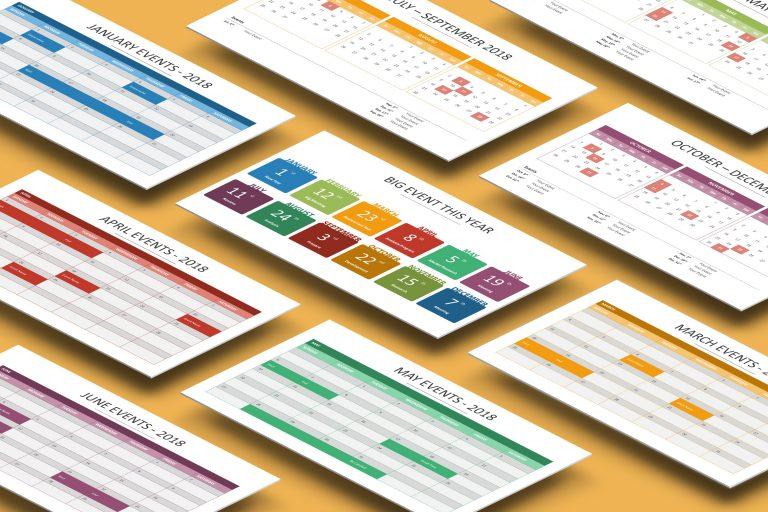 2018 Calendar Presentation Template