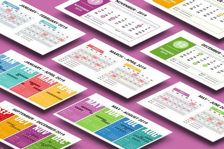 2019 Calendar Presentation Template