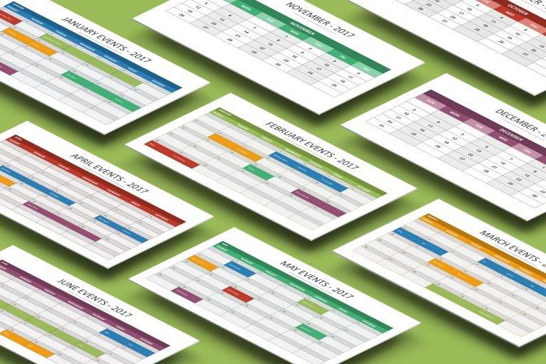 2017 Calendar Presentation Template