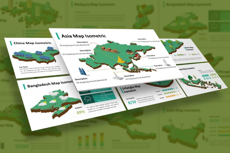 Asia Infographic Isometric Presentation Template