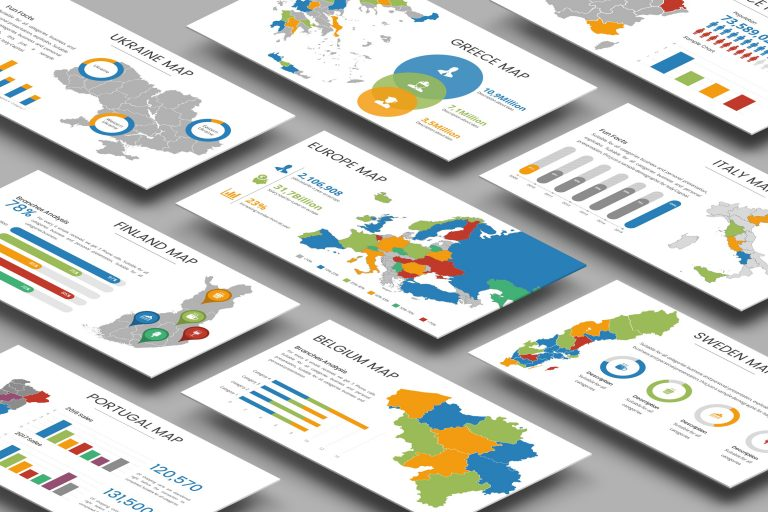 Europe Infographic Presentation Template