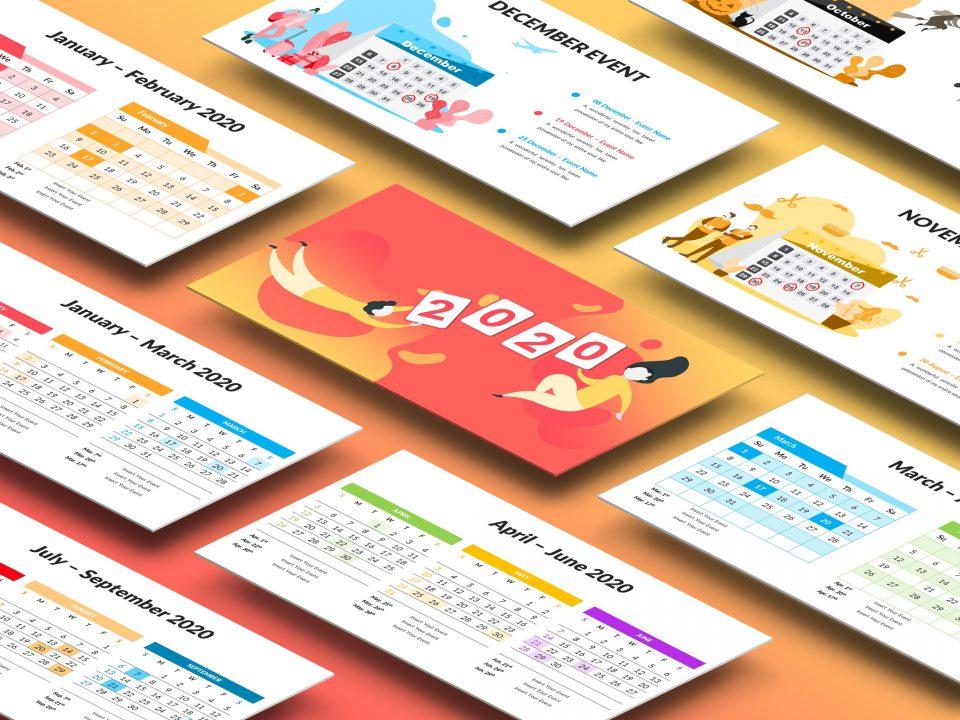 2020 Calendar Presentation Template