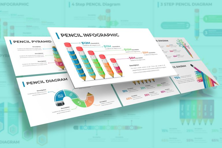 Pencil Diagram Infographic Presentation Template