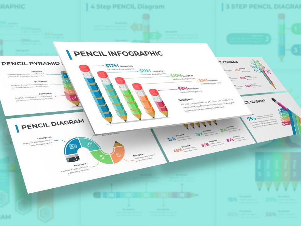 Pencil Diagram Infographic Presentation Template