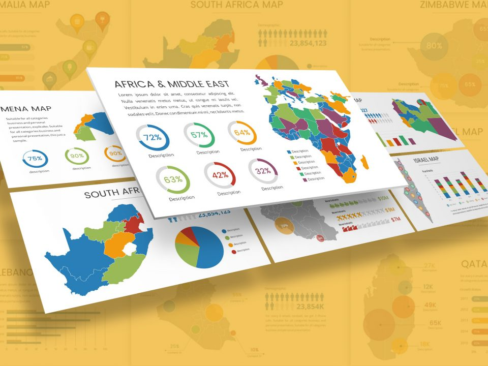 Africa & Middle East Infographic Presentation Template