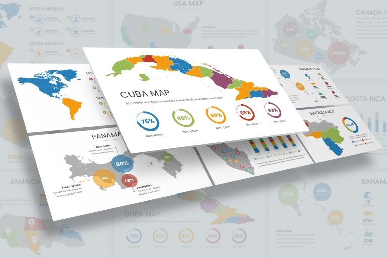 North and South America Infographic Presentation Template