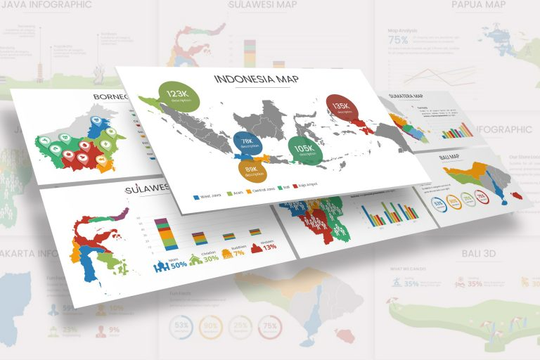 Indonesia Infographic Presentation Template