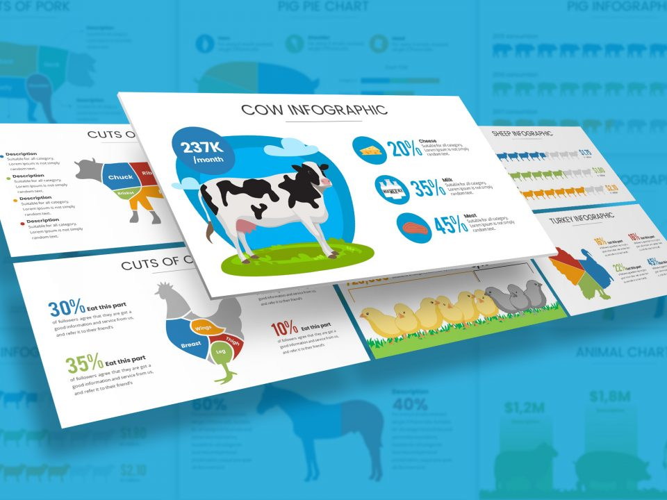Farm & Livestock Infographic Presentation Template