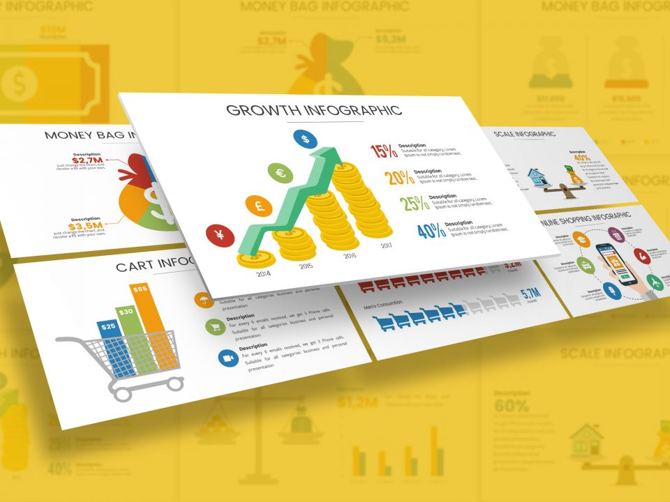 Finance & Economy Infographic Presentation Template