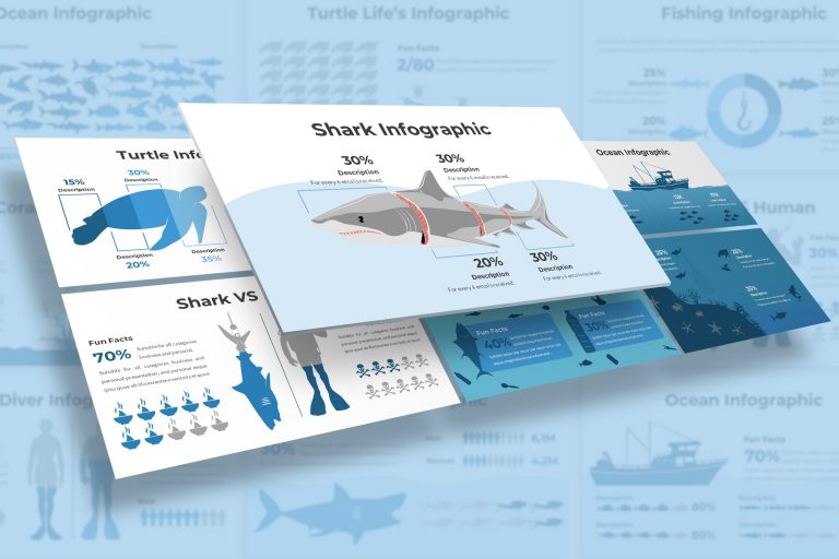 Oceanic Infographic Presentation Template