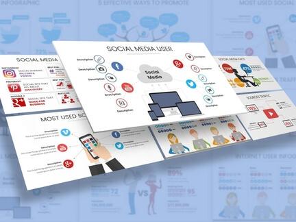 Social Media Infographic Presentation Template